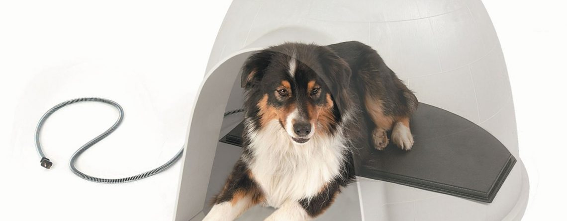 K&H Pet Products Lectro-Kennel Igloo Style Outdoor Heated Pad Large Black