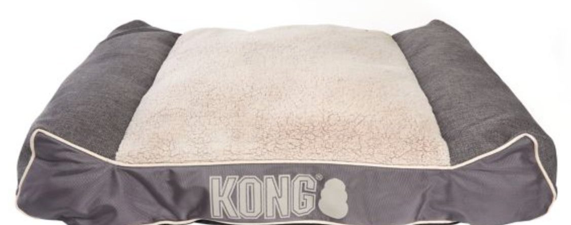 KONG Lounger Plush Pillow Pet Bed GREY